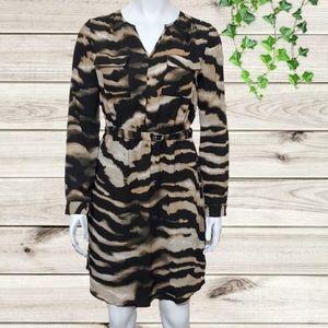 Mossimo Animal Print Long Sleeve Pocketed Dress